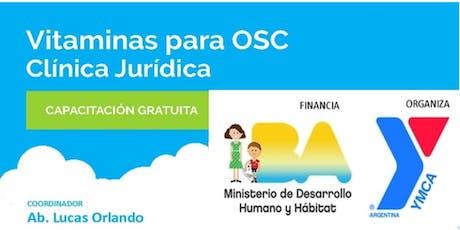 VITAMINAS para OSC + Clínica Jurídica para OSC / ONG entradas