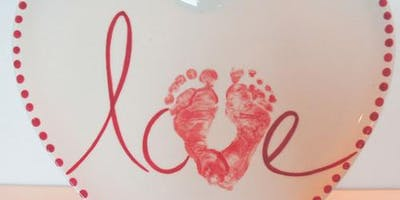 Baby hand and footprints with This Art of Mine
