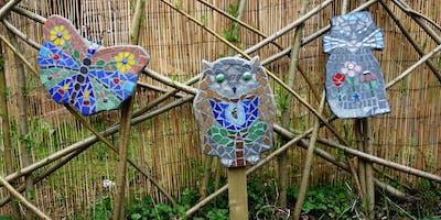 Hand Formed Garden Mosaic Art Shape Class (deposit booking)