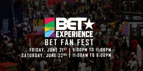 2019 BET Experience Fan Fest tickets