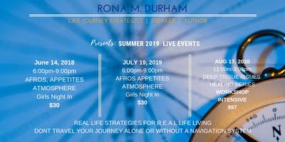 "Summer 2019 Live Events ""Afros, Appetites, Atmospheres """