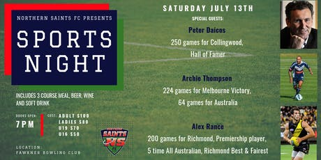 SPORTS NIGHT - Northern Saints FC  tickets