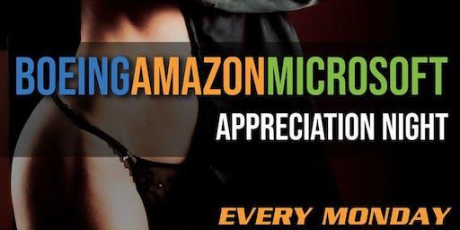 Boeing, Amazon, Microsoft Mondays at Dream Girls at Rick's!