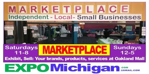 crafters, vendors, Direct Sales, Exclusive: MARKETPLACE Oakland Mall 12 weekends $299