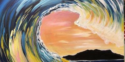 """WAVE hello to summer!"" Paint Night Banff"