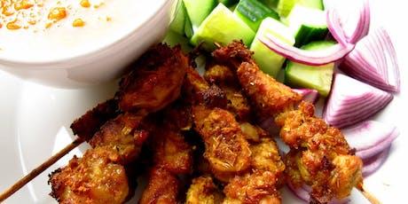 Healthy Thai this Summer! Chicken Satays, Thai BBQ Pork and Mango Sticky Rice!  tickets