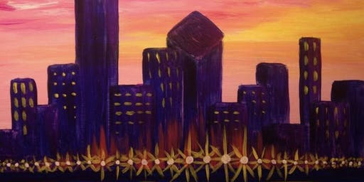 Chicago Skyline Paint and Sip
