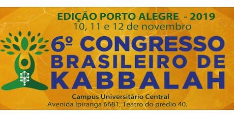 6o. Congresso Brasileiro de Kabbalah, Edição Porto Alegre, 2019 ingressos