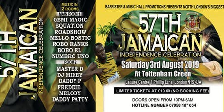 JAMAICA'S 57TH YEAR INDEPENDENCE tickets