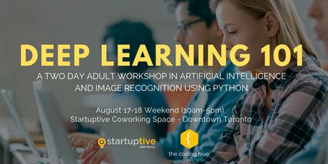 Deep Learning 101 (Adult Python Programming and AI Workshop) tickets