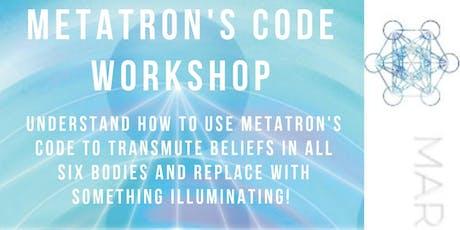Metatron's Code Workshop - Releasing Old Beliefs - Tidal Elements - Vernon tickets