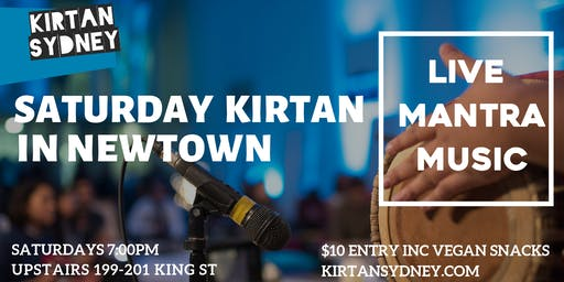 Saturday Kirtan/Chanting in Newtown - Live Mantra Music Meditation - Kirtan Sydney