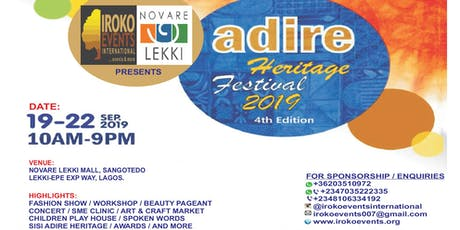 Adire heritage Festival Nigeria 2019 (4th edition) tickets