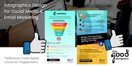 Infographics for Social Media & Email Marketing Design Course (SkillsFuture Credit Eligible) tickets