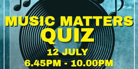 Heart of Pitsea Music Matters Quiz tickets