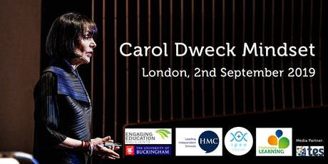 Carol Dweck: Developing a Growth Mindset for Learning tickets