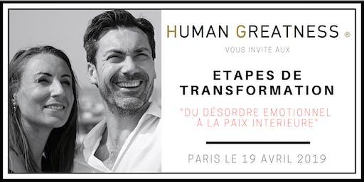 Du désordre émotionnel à la paix intérieure - PARIS