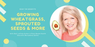 Growing Your Own Organic Living Foods at Home Including Wheatgrass, Sprouting Seeds & Much More with Bernadette Bohan