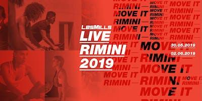 LES MILLS LIVE RIMINI - GIOVEDI 30 MAGGIO