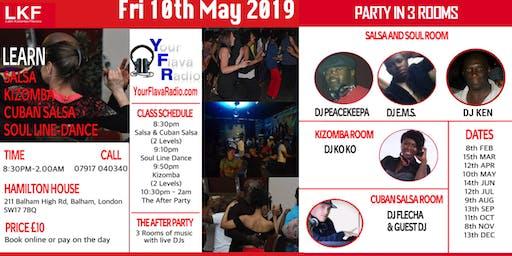 LKF PRESENTS SABURA SABROSO The Monthly Salsa Kizomba & Soul Party