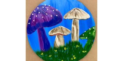 "Adult Open Paint (18yrs+) ""Mushroom Garden""  Select your medium"