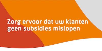 Zorg ervoor dat uw klanten geen subsidies mislopen - Beveren