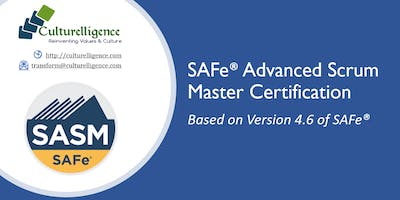 SAFe® Advanced Scrum Master with SASM Certification | July 20-21 | Edison, NJ