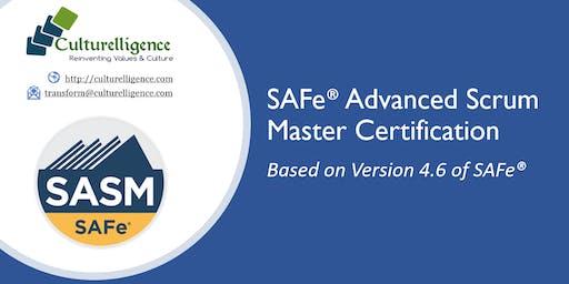 SAFe® Advanced Scrum Master with SASM Certification   July 20-21   Edison, NJ