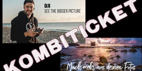 """KOMBITICKET DJI Drohnen Workshop und ,,Mach mehr aus deinen Fotos"""" Tickets"""