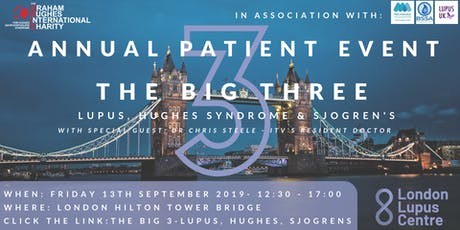 Patient event: The Big 3 - Lupus, Hughes, Sjogrens tickets