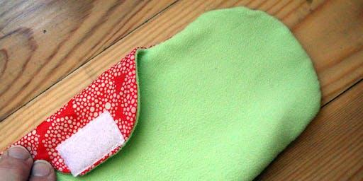 ReUsable sanitary and make up remover pads making!