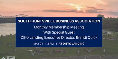 SHBA Monthly Membership Meeting with Ditto Landing Executive Director, Brandi Quick
