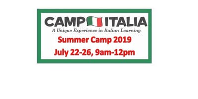 Italian SUMMER CAMP for Children...July 22-26, 2019