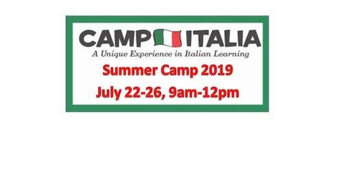 Italian SUMMER CAMP for Children...July 22-26, 2019