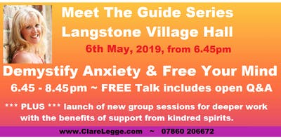 Demystify Anxiety **PLUS** Launch of New Focus Groups
