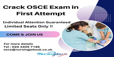 UK NMC OSCE (Objective Structured Clinical Examination) Training Course 2019 tickets