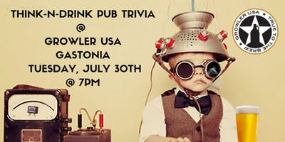 Think-N-Drink Pub Trivia at Growler USA Gastonia