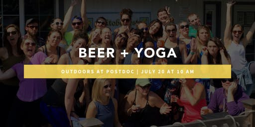 Outdoor Beer + Yoga at Postdoc Brewing