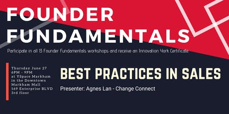 Founder Fundamentals - Best Practices in Sales tickets