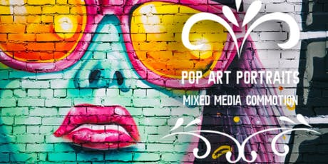 ★  Pop Art Portraits: Colourful Mixed Media Fun tickets