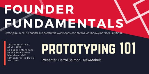 Founder Fundamentals - Prototyping 101
