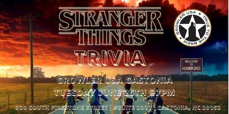 Stranger Things Trivia at Growler USA Gastonia tickets