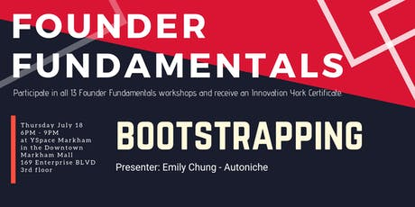 Founder Fundamentals - Bootstrapping  tickets