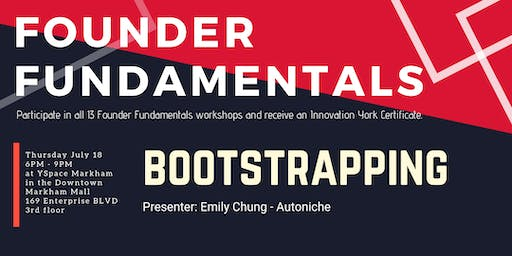 Founder Fundamentals - Bootstrapping & Mental Health