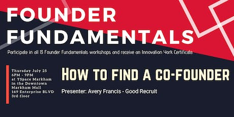 Founder Fundamentals - How to Find a Co-Founder tickets