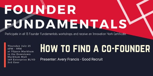 Founder Fundamentals - How to Find a Co-Founder