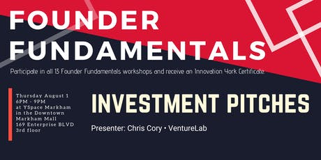 Founder Fundamentals - Investment Pitches  tickets