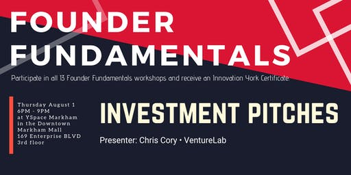 Founder Fundamentals - Investment Pitches