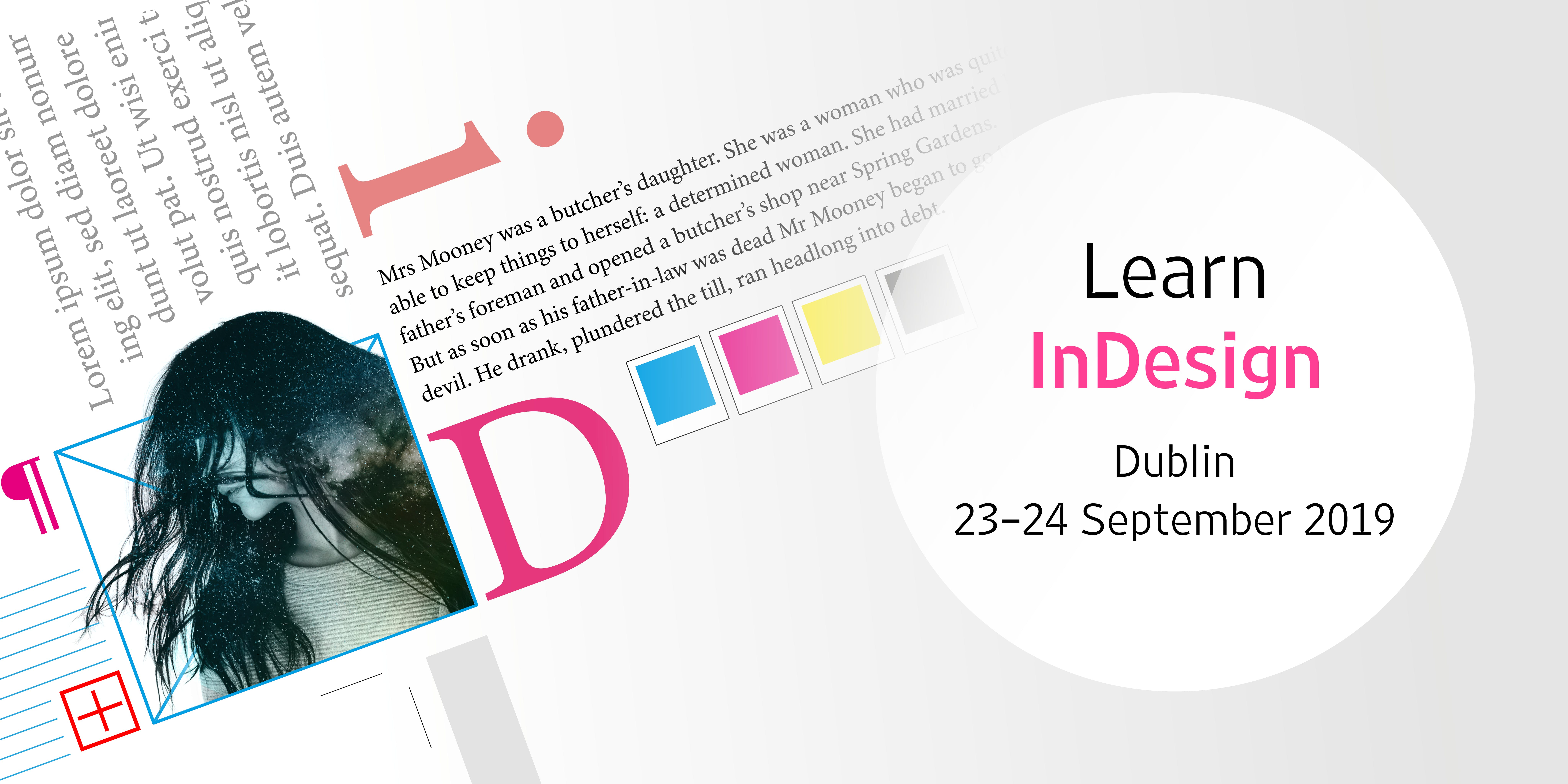 Adobe InDesign: create publications, leaflets, reports (two-day