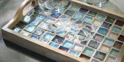 Mosaic Tile Tray - Sip & Paint Party Maker Art Class